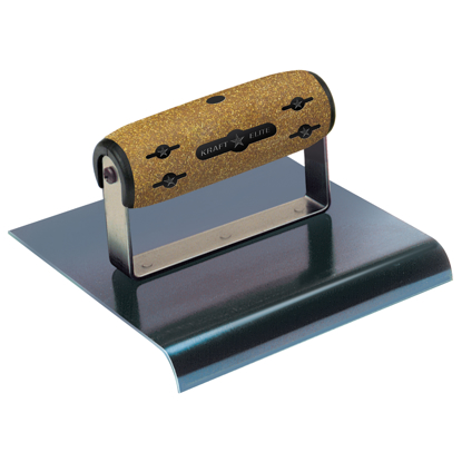 "Picture of 6"" x 6""  1/2""R Elite Series Five Star™ Blue Steel Hand Edger with Cork Handle"